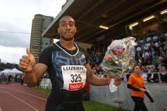Dass der französische Jahresschnellste Jimmy Vicaut über 100 m gewinnen würde, davon war auszugehen. Dennoch war es ein spezieller Sieg für den Europarekordhalter. (Bild: Philipp Schmidli)