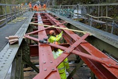 Saniert wird auch die ebenfalls rund 100-jährige Brücke Husenbach oberhalb von Meiringen. (Bild: Robert Hess / Neue OZ)