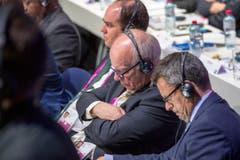 Gregory Dyke, Vorsitzender des Fussballverbands England, weiss, dass es noch ein Weilchen gehen wird, bis es etwas zu entscheiden gibt. (Bild: Keystone/Patrick B. Kraemer)