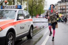 Ein Umzugsteilnehmer in Zürich. (Bild: KEYSTONE/Ennio Leanza)