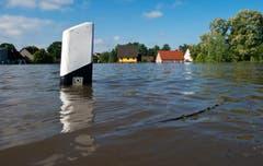 Elbe-Hochwasser in Kabelitz. (Bild: Keystone)
