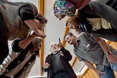 Casting zum Winnetour Freilichtspiel im Restaurant Wasserfall in Engelberg. Auf dem Bild zu sehen ist David Matthäus Zurbuchen (Leiter Casting, Produktionsassistent). (Bild: Pius Amrein (LZ))