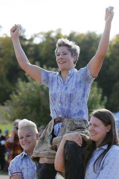 Sonia Kälin stand schon vor dem letzten Sonntag als Gesamtsiegerin fest. (Bild: Keystone)