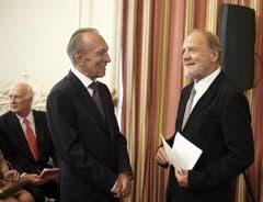 Claudio Abbado und Schweizer Schauspieler Bruno Ganz (Bild: pd)