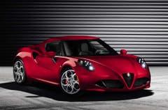 Alfa Romeo C4: Das Leistungsgewicht des schnittigen Mittelmotorsportlers C4 mit spritzigem 4-Zylindermotor liegt bei unter 4 kg/PS. (Bild: PD)