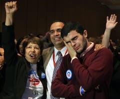 Obama ist gewählt: Freudentränen in Las Vegas. (Bild: Keystone)