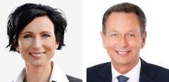 AARGAU - Pascale Bruderer (bisher), SP und Philipp Müller (neu), FDP (Bild: Keystone / Handout)