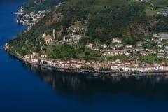 In einem grossen Wettbewerb ist das 770-Seelendorf Morcote im Tessin südlich von Lugano zum schönsten Dorf der Schweiz gekürt worden. (Bild: Pablo Gianinazzi / Keystone)