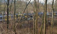 Die Unglücksstelle in der Nähe von Bad Aibling. (Bild: Sebastian Stepniewski)