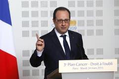 Präsident François Hollande: «Es gibt keine Überlebende». (Bild: Keystone)