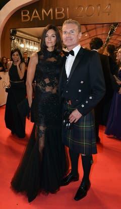 Ex-Formel-1-Rennfahrer David Coulthard mit seiner Freundin Karen Minier. (Bild: Keystone)
