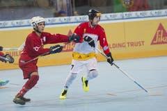 Der Portugiese Justin Cabral (links)) gegen den Schweizer Patrick Luethi. (Bild: Maria Schmid (Neue ZZ))