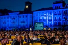 Der Eröffnungsabend auf der Piazza Grande in Locarno. (Bild: Keystone)