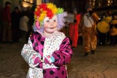 Erstaunt: Die Muki-Turnen Clowns. (Bild: Edi Ettlin / Neue OZ)