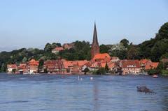 Elbe-Hochwasser bei Lauenburg. (Bild: Keystone)