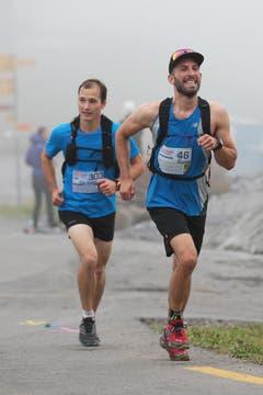 Wettkampf-Teilnehmer Florian Köpfli (rechts). (Bild: Roger Zbinden (Neue LZ))