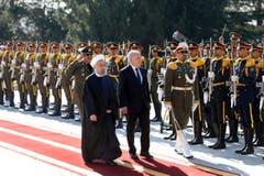 Johann Schneider-Ammann, Hassan Rouhani (Bild: Ebrahim Noroozi)