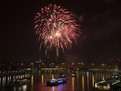 Feuerwerk in Basel (Bild: Keystone)