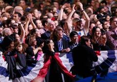 Jubel in Chicago nach Obamas Wiederwahl. (Bild: Keystone)