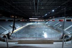 Das Hockeystadion bietet 7000 Zuschauern Platz, (Bild: Keystone / Peter Schneider)