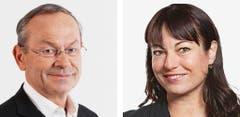 WAADT - Olivier Francais (neu), FDP und Geraldine Savary (bisher), SP. (Bild: Keystone / Handout)