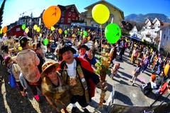 Kinderfasnacht mit Umzug am Güdismäntig in Alpnach. Im Bild das Zunftmeisterpaar Thomas III. und seine Frau Margrit. (Bild: Markus von Rotz / NZ (27. 02. 2017))