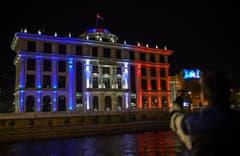 Das mazedonische Aussenministerium. (Bild: EPA/GEORGI LICOVSKI)