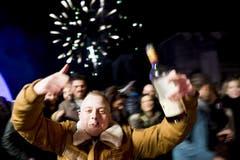 Feiernde in Veyvey (Bild: Keystone)