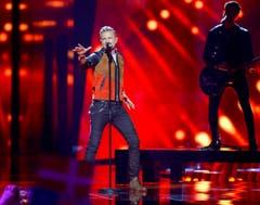 Der Ire Nicky Byrne gibt bei seinem Auftritt alles. (Bild: EPA/MAJA SUSLIN)