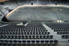 Das Eisstadion ist die neue Heimat des EHC Biel. Der Verein spielt in der obersten Liga. (Bild: Keystone / Peter Schneider)
