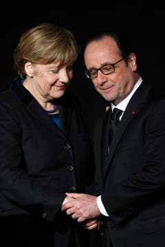 Frankreichs Präsident Françcois Hollande und Deutschlands Kanzlerin Angela Merkel versprachen umfassende Aufklärung. (Bild: Keystone)