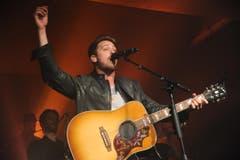 Musikfestival AndermattLive. Bastian Baker bei seinem Auftritt. (Bild: Urs Hanhart (Neue UZ))