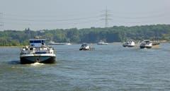 Der Rhein ist nach wie vor eine wichtige Wasser-Handelsstrasse. (Bild: Hans Scheidegger)