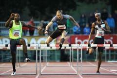 Karim Hussein gewinnt über 400 Meter Hürden in 49,47. (Bild: Philipp Schmidli)