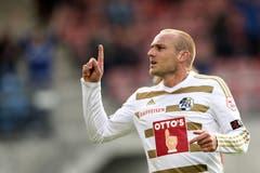 Der Luzerner Marco Schneuwly jubelt nach seinem Tor zum 0:2. (Bild: Keystone)