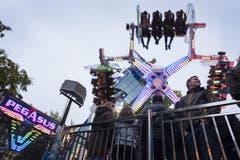 """Heute wird das Publikum in die Luft gewirbelt: Pegasus"""" der Schaustellerfamilie Jolliet, Luzerner Herbstmesse 201 (Bild: Priska Ketterer)"""