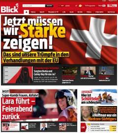 «Gegen die Bevölkerung lässt sich langfristig keine Politik betreiben», kommentiert der «Blick». Das gelte auch für die EU. Der beste Trumpf der Schweiz bei Neuverhandlungen sei dieser Urnengang. (Bild: Screenshot)