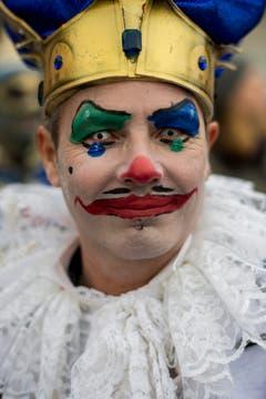 """Eine kostümierte und geschminkte Person am Umzug """"ZüriCarneval 2015"""". (Bild: ENNIO LEANZA)"""