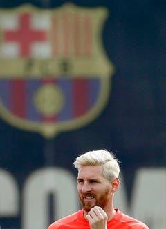 Beim Fussball-Turnier tritt Argentinien ohne Lionel Messi an ... (Bild: EPA / Andreu Dalmau)