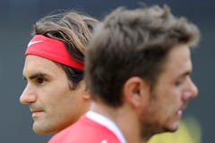 DIE GROSSEN ABWESENDEN. - Wie Roger Federer (links) und Stan Wawrinka verpassen beispielsweise... (Bild: Keystone / Jean-Christophe Bott)