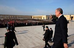 Der Prunkbau wurde in Ankara in einem Naturschutzgebiet errichtet. (Bild: KEYSTONE)