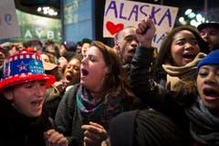 Sie freuen sich über die Wiederwahl von Barack Obama. (Bild: Keystone)