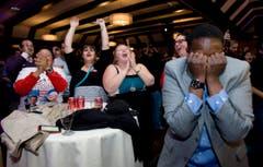 Sie freuen sich in einem Hotel in Salt Lake City. (Bild: Keystone)