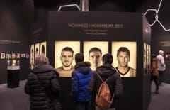 Einen Vorgeschmack auf das neue Museum der Fifa liefert die Sonderausstellung «Fifa Ballon d'Or», ... (Bild: Keystone / Patrick B. Krämer)