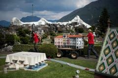 Ein Stück Locarno nimmt zwischen Schweizer Monumenten eine Kurve. (Bild: Gabriele Putzu/Ti-Press/Keystone)