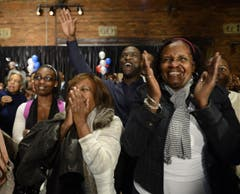 Auch in Georgia jubeln Obamas Anhänger. (Bild: Keystone)