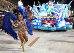 Die «Uniao da Ilha do Governador Samba School». (Bild: Keystone)