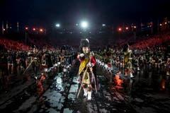 «Massed Pipes and Drums» aus Schottland. (Bild: Keystone / Patrick Staub)
