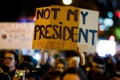 US Presidential Election Protest (Bild: Keystone)