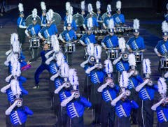 The Blue Devils International Corps aus Amerika. (Bild: Keystone / Patrick Staub)